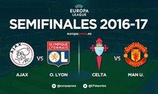El Celta s'enfrontarà al Manchester United en semifinals de l'Europa League (EUROPA PRESS)