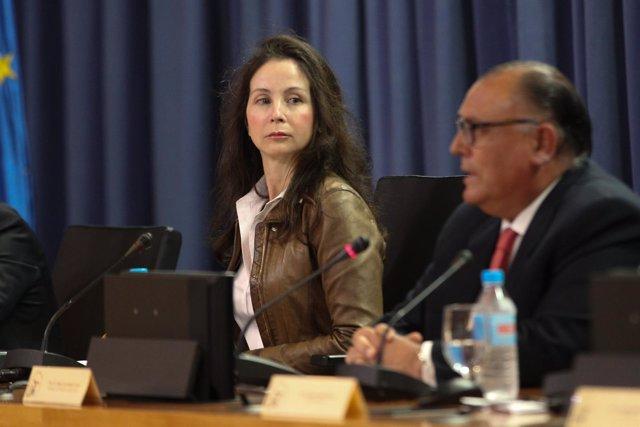 Mercedes Alaya, en una charla de la Universidad de Sevilla