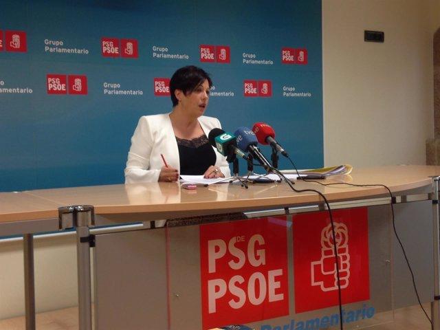La diputada del PSdeG Begoña Rodríguez Rumbo en rueda de prensa