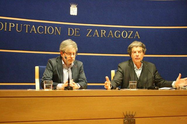 Borque y Bolea en la presentación del V Ciclo Literario de Escritoras Españolas.