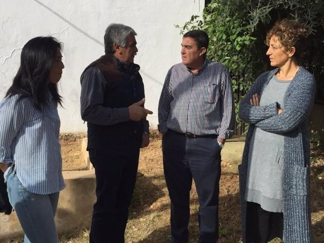 El delegado de Educación de la Junta en Huelva, Vicente Zarza, Corteconcepción.