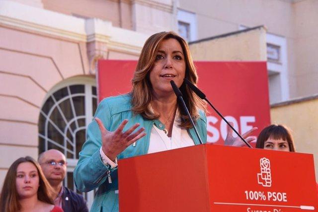 La titular del PSOE andaluz ha visitado Xàtiva