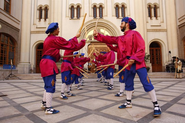 Dance de Leciñena, en los Patios del Pignatelli.