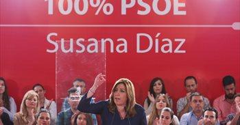"""Susana Díaz apela al """"respeto mutuo"""" en las primarias para que el PSOE..."""