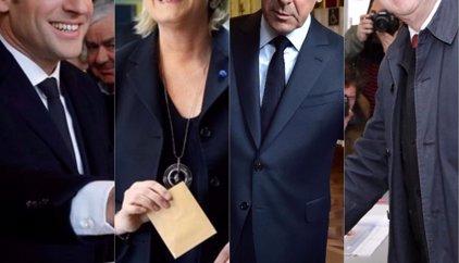 Primeros sondeos a pie de urna recogidos por medios belgas dan ventaja a Macron y Le Pen en las elecciones