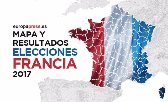 Mapa y resultados de las elecciones Francia 2017