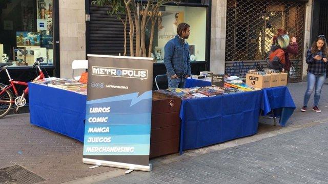 Puesto del Día del Libro en Palma