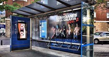 Guardianes de la Galaxia Vol. 2 transforma las marquesinas de Madrid en...
