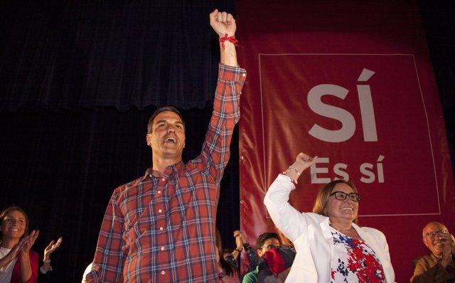 Pedro Sánchez, en un acto en Huelva