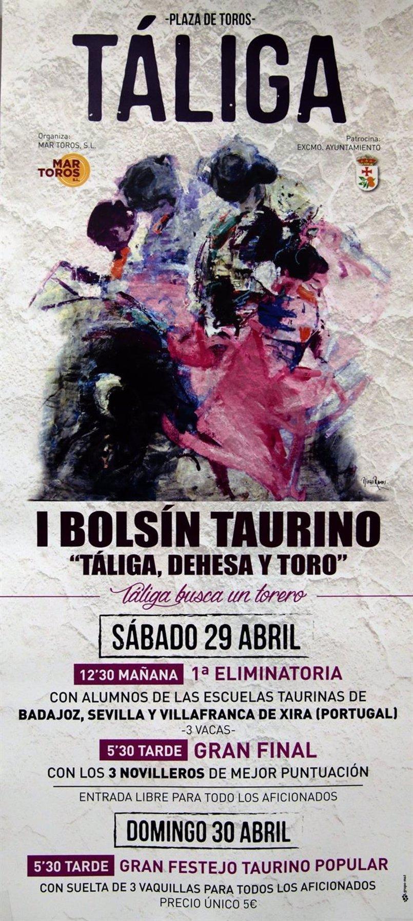 Táliga celebrará su I Bolsín Taurino con representación de alumnos de las Escuelas de Badajoz, Sevilla y una portuguesa