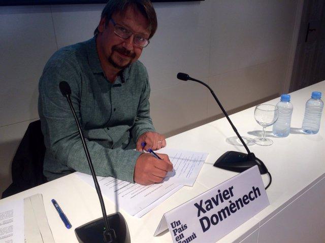 El portavoz del los 'comuns', Xavier Domènech