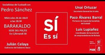 La agrupación socialista de Barakaldo acoge este miércoles un acto para...