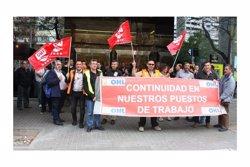 Una cinquantena de treballadors d'OHL es manifesten a Barcelona contra l'ERO per fer fora 404 persones arreu de l'Estat (ACN)
