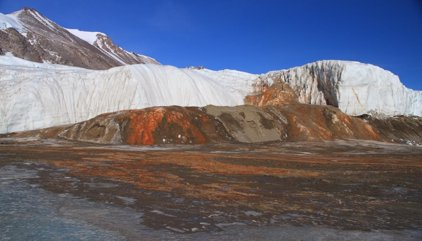 Solución al misterio de las 'cataratas de sangre' en la Antártida