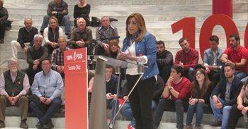 """Susana Díaz se compromete a """"no entregar el PSOE a nadie"""" ni a """"imitar a..."""