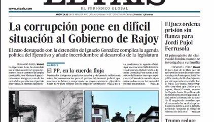 Las portadas de los periódicos de hoy, miércoles 26 de abril de 2017