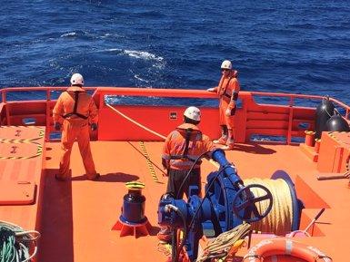Dos morts i un desaparegut després de la col·lisió d'un pesquer a la Ria de Pontevedra (EUROPA PRESS/SALVAMENTO MARÍTIMO)