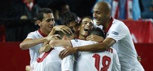 (Crónica) El Sevilla caza al Atleti y el Athletic sigue su racha por Europa
