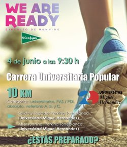 La Universidad Miguel Hernández de Elche acogerá el Circuito de Running Universitario el 4 de junio