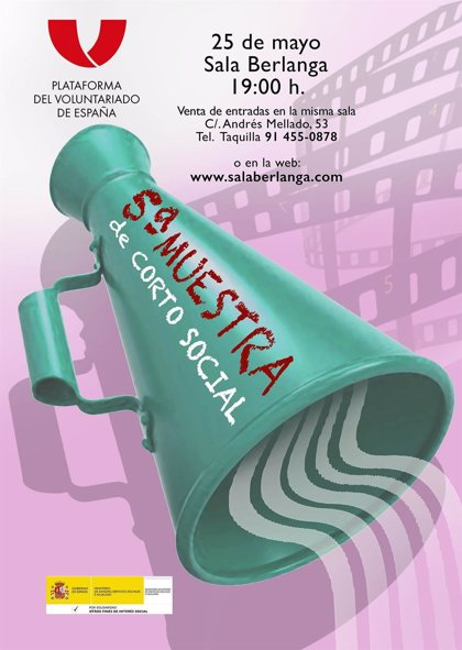 La Plataforma del Voluntariado de España celebra mañana la V Muestra Corto Social en Madrid