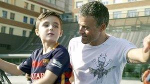 Fútbol. Luis Enrique apoya la nueva UCI pediátrica del Hospital Sant Joan de Déu promovida por la Fundación PortAventura