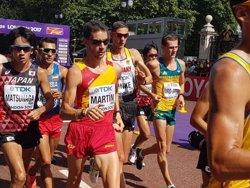 El colombiano Eider Arévalo reina en los 20 kilómetros marcha y Álvaro Martín acaba octavo