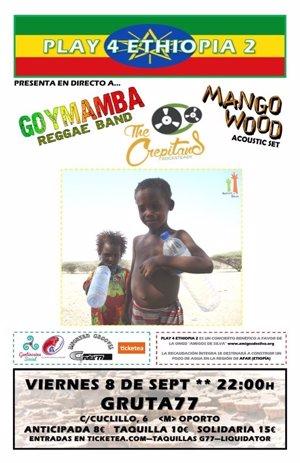 El concierto 'Play 4 Ethiopia' se celebra mañana en Madrid para reunir fondos para construir un pozo de agua en Etiopía