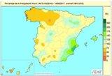 La falta de precipitaciones acumulada hasta el 19 de septiembre sube al 13% a 10 días de que acabe el año hidrológico