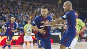 (Crónica) Movistar Inter y FC Barcelona pueden con Santiago y Palma Futsal