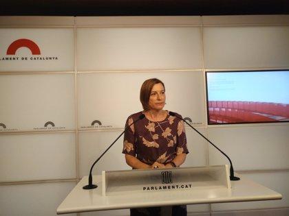 La presidenta del Parlament hará una declaración institucional a las 19.30 horas