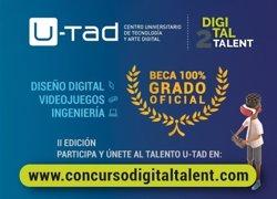 U-Tad convoca la segunda edición de 'Digital Talent', que premiará con tres becas para estudiar un grado completo