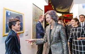 La Reina Sofía entrega el Premio BMW de Pintura acompañada de Mar Flores y Carmen Martínez-Bordiú