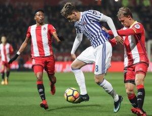 (Crónica) Stuani y Bono frenan a la Real Sociedad en Gerona (1-1)