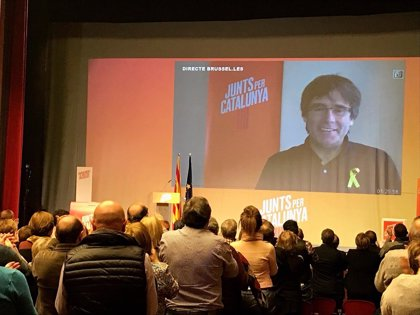 Puigdemont protagonizará un mitin final en directo vía Internet