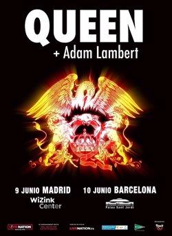 Las entradas para los conciertos de Queen + Adam Lambert en Madrid y Barcelona, a la venta el 23 de febrero