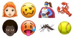 Personas pelirrojas y con el pelo rizado, principales novedades de los emoji para 2018