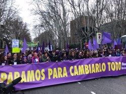 'Clamor' feminista en Madrid: Decenas de miles de personas exigen en la calle igualdad real