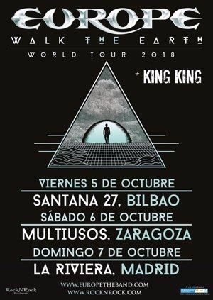 Europe presentarán nuevo disco en Bilbao, Zaragoza y Madrid