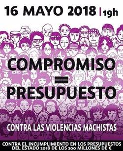 El PSOE y Podemos apoyarán mañana la movilización feminista por el Pacto contra la violencia machista