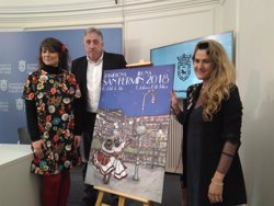 El cartel 'Pamplona, ciudad de luces', de Adriana Eransus, anunciará los Sanfermines de 2018