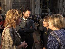 Torra y Torrent asisten a una plegaria interreligiosa en apoyo a las familias de los presos soberanistas