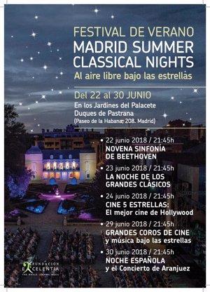 La Novena de Beethoven o el Concierto de Aranjuez, entre los conciertos del festival de verano de Fundación Excelentia