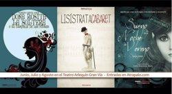 El Teatro Arlequín de Madrid acogerá este verano obras de Shakespeare, Aristófanes y Lorca
