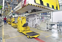 La producción industrial de la eurozona eleva un 1,3% en mayo