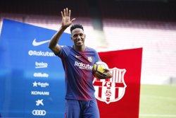 Yerry Mina no ve claro su futuro en el Barça: