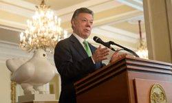 Santos hace un llamamiento a la paz con la presencia de las FARC en la constitución del Congreso de Colombia