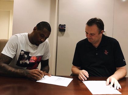 Carmelo Anthony firma por los Houston Rockets
