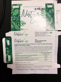 Sanidad retira el complemento alimenticio 'Natur Cap Cápsulas' por no declarar que contiene tadalafilo y sildenafilo