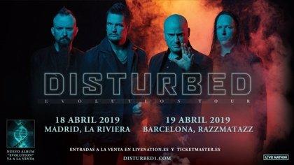 Disturbed volverá tras 16 años para presentar nuevo disco en Madrid y Barcelona