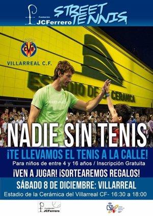 Las fundaciones de Ferrero y CSD llevarán el tenis al estadio de La Cerámica antes del Villarreal-Celta